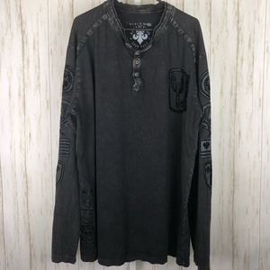 Affliction Blk Prm 73 Live East Long Sleeve Shirt